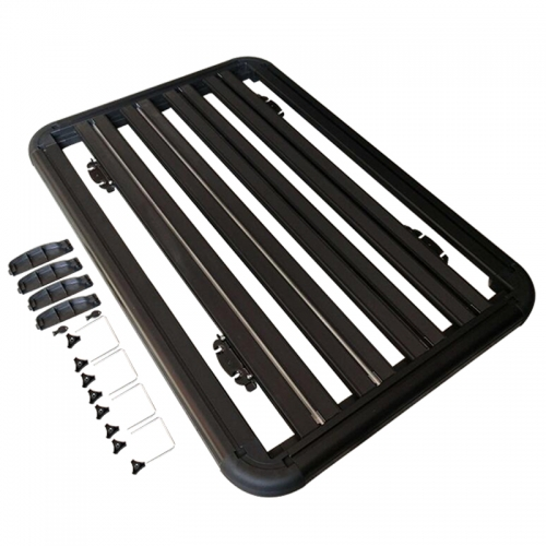 Universal 4×4 Aluminum Alloy Roof Platform Racks with Extension Car Top Luggage Holder Carrier Basket SUV Camping Cargo to Suit All Pickup